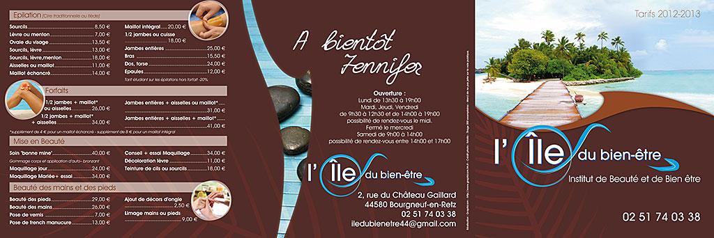 Conception et impression d 39 un flyer d 39 une plaquette d for Panneau publicitaire salon de coiffure