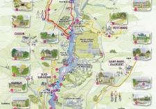 Cartographie aquarellé de la vallée de l