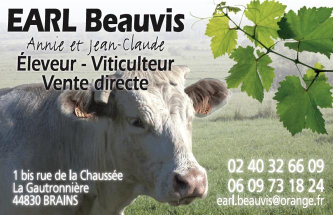 Carte De Visite SARL Beauvis Brains